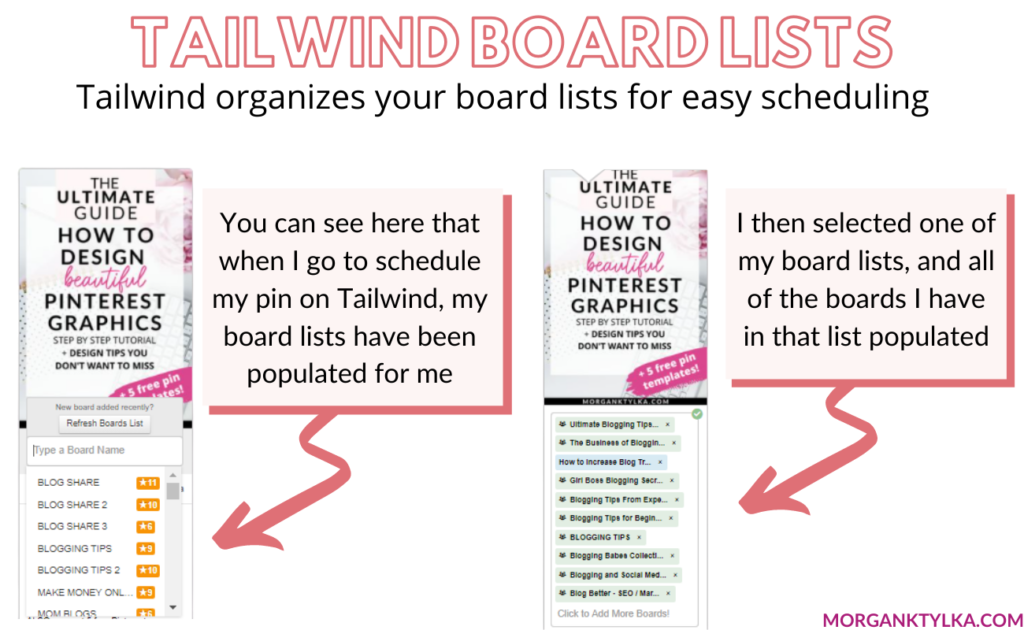 how to use tailwind board lists