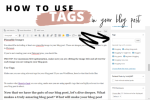 using tags in blog post