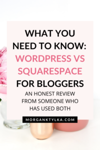 wordpress vs squarespace for bloggers