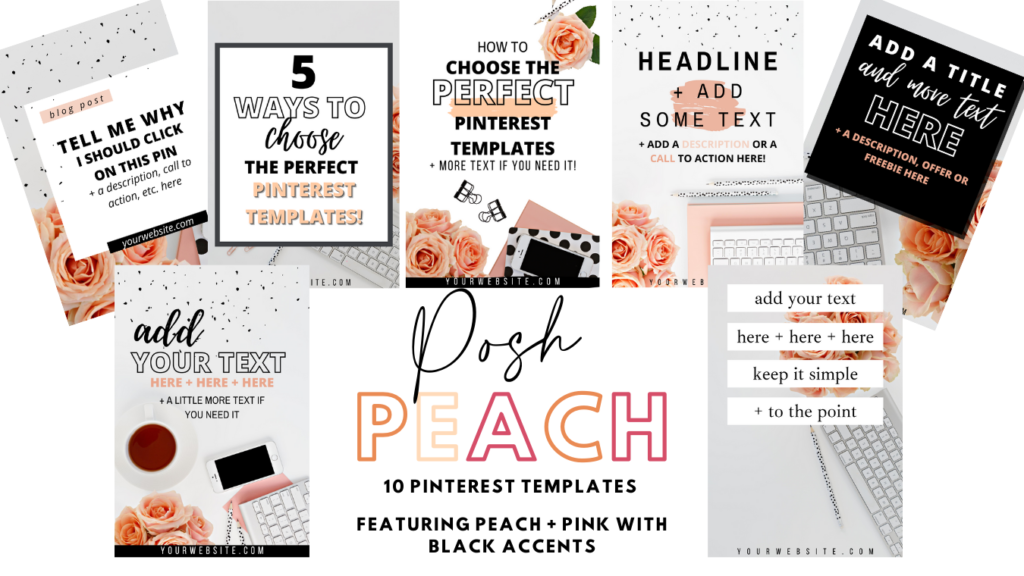 peach pinterest templates