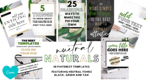 Neutral Pinterest Templates for Canva