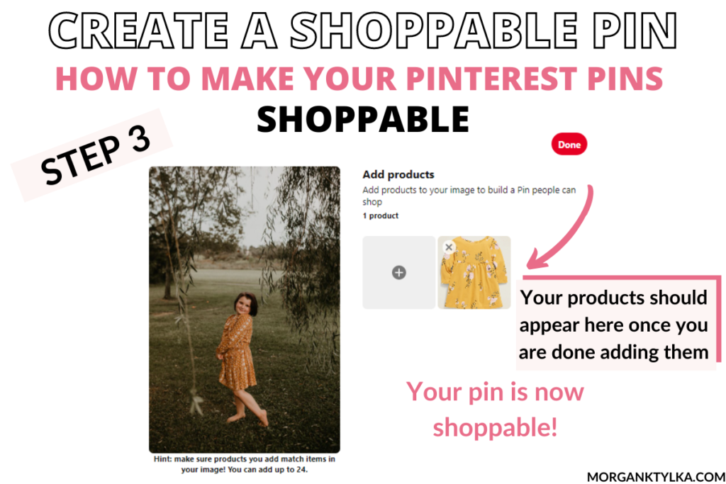 how to make your pinterest pins shoppable