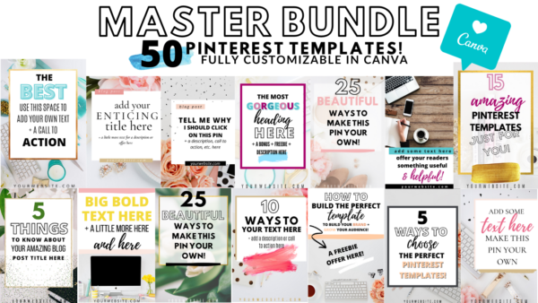 Pinterest Templates for Canva Master Bundle