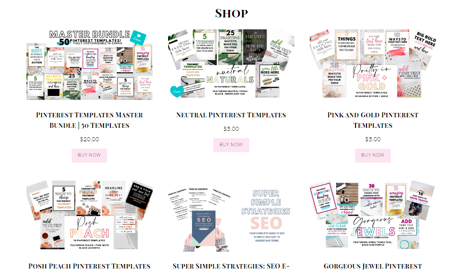 example of sales page on wordpress blog